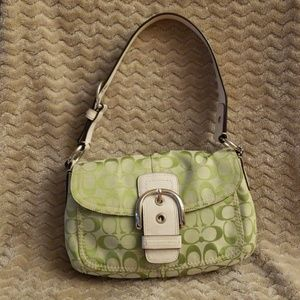 Coach Purse with leather strap